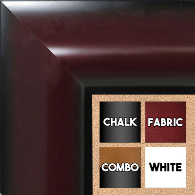 BB1518-3   Mahogany - Extra Extra Large  Wall Board Cork Chalk Dry Erase