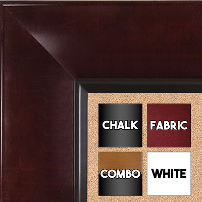 BB1526-3 Walnut - Extra Extra Large  Wall Board Cork Chalk Dry Erase