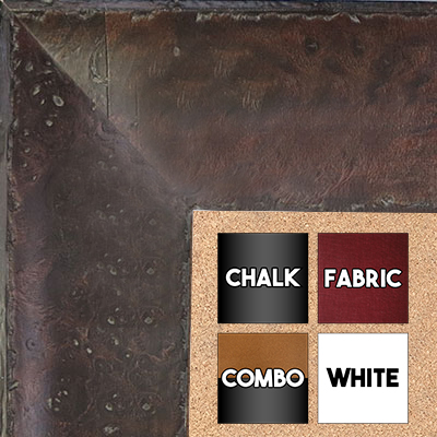 BB1531-2  Distressed Burlwood Walnut Coffee Brown Custom  Extra Extra Large  Wall Board Cork Chalk Dry Erase