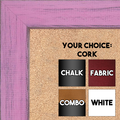 BB1533-10 Distressed Soft Pink - Medium Custom Cork Chalk or Dry Erase Board