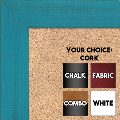 BB1533-9 Distressed Turquoise - Medium Custom Cork Chalk or Dry Erase Board