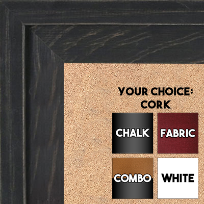BB1534-1 Distressed Black - Extra Large Custom Cork Chalk or Dry Erase Board
