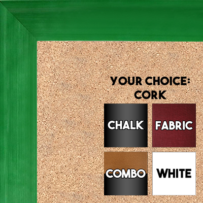 BB1536-4 Glossy Green - Medium Custom Cork Chalk or Dry Erase Board