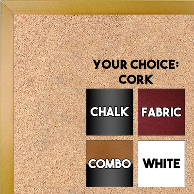 BB1540-18 Thin Metal Gold Nugget Custom Cork Chalk or Dry Erase Board Small To Large