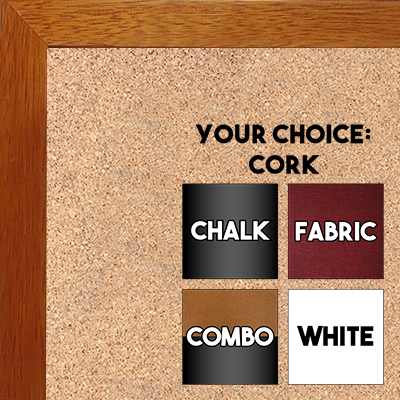BB1544-1 Espresso Coffee Brown - 3/4 Inch Wide X 1 1/4 Inch High - Small Custom Cork Chalk Dry Erase