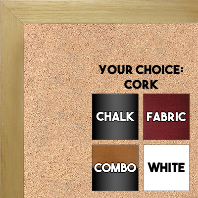 BB1544-4 Natural Clear- 3/4 Inch Wide X 1 1/4 Inch High - Small Custom Cork Chalk Dry Erase