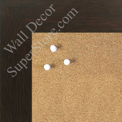 "BB1545-5 Rich Walnut 1 3/4"" Wide Value Price Medium To Extra Large Custom Cork Chalk Or Dry Erase Board"