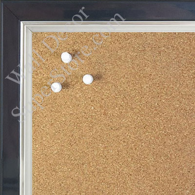 BB1560-6 Pearlized Navy Blue With Silver Lip Small To Medium Custom Cork Chalk or Dry Erase Board
