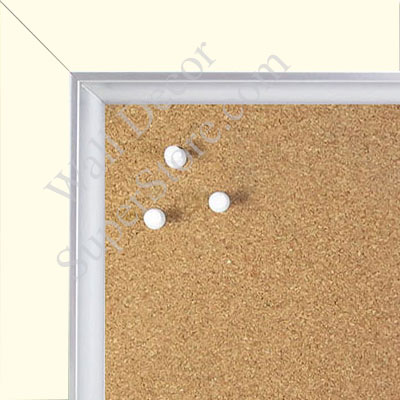BB1561-2 Pearlized White With Silver Lip Large Custom Cork Chalk or Dry Erase Board