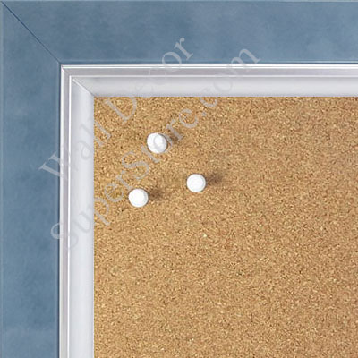 BB1561-3 Pearlized Blue With Silver Lip Large Custom Cork Chalk or Dry Erase Board