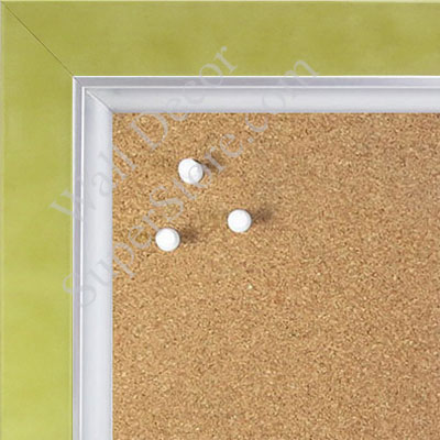 BB1561-8 Pearlized Lime With Silver Lip Large Custom Cork Chalk or Dry Erase Board