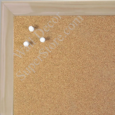 BB1562-1 Gloss Lacquer Natural Clear Wood Grain Small Custom Cork Chalk or Dry Erase Board