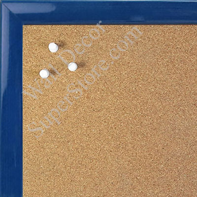 BB1562-6 Gloss Lacquer Blue Wood Grain Small Custom Cork Chalk or Dry Erase Board