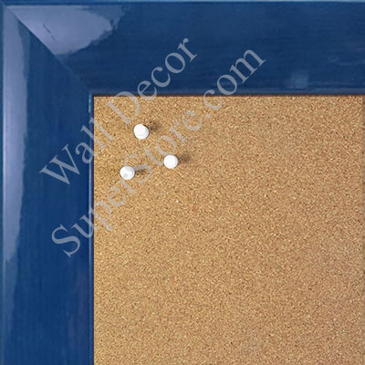 BB1563-6 Gloss Lacquer Blue Wood Grain Large  Custom Cork Chalk or Dry Erase Board
