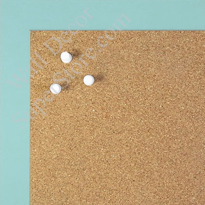 BB1564-16 Soft Blue Small Custom Cork Chalk or Dry Erase Board