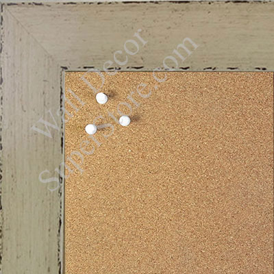 BB1565-1 Glossy Distressed Ivory - Large Custom Cork Chalk or Dry Erase Board