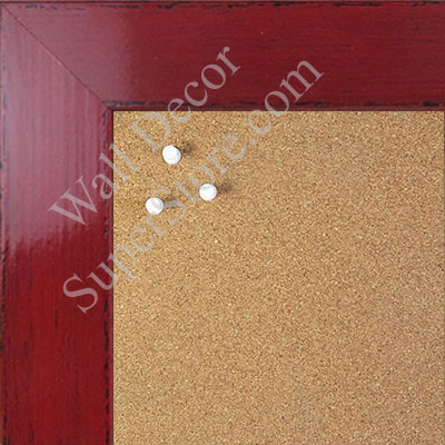 BB1565-2 Glossy Distressed Red - Large Custom Cork Chalk or Dry Erase Board