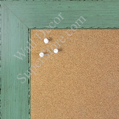 BB1565-4 Glossy Distressed Green - Large Custom Cork Chalk or Dry Erase Board