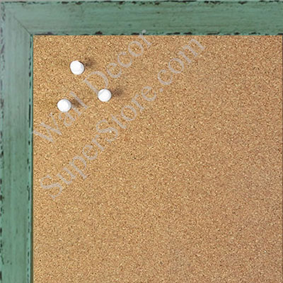 BB1567-4 Glossy Distressed Green - Small Custom Cork Chalk or Dry Erase Board