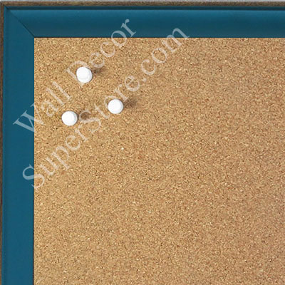 BB1569-9 Small Turquoise With Top Outside Distressed Accent Custom Cork Chalk or Dry Erase Board