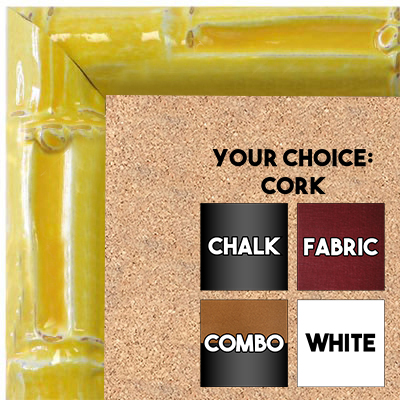 BB1611-4  Yellow Enamel Bamboo Wallboard Corkboard Whiteboard Chalkboard