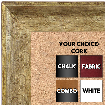 BB1614-3  Distressed Silver Custom Wallboard Corkboard Whiteboard Chalkboard