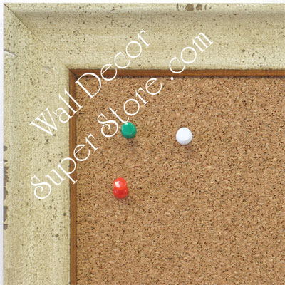 BB1616-4  Distressed Cream | Custom Wallboard Corkboard Whiteboard Chalkboard