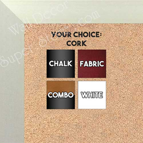 BB1617-1   Brushed Silver | Aluminum | Wallboard Corkboard Whiteboard Chalkboard