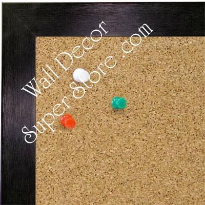 BB1617-3   Brushed Brite Black | Aluminum | Wallboard Corkboard Whiteboard Chalkboard