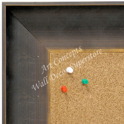 BB1632-1  Distressed Dark Bronze | Custom Cork Bulletin Board | Custom White Dry Erase Board | Custom Chalk Board