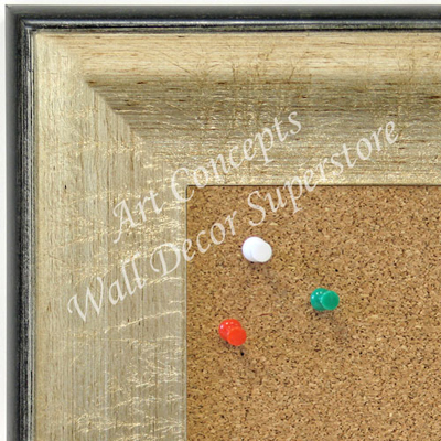 BB1663-2 | Crackle Silver / Black | Custom Cork Bulletin Board | Custom White Dry Erase Board | Custom Chalk Board