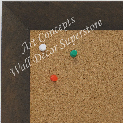 BB1684-2 | Distressed Brown | Custom Cork Bulletin Board | Custom White Dry Erase Board | Custom Chalk Board