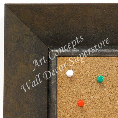 BB1685-2 | Distressed Brown | Custom Cork Bulletin Board | Custom White Dry Erase Board | Custom Chalk Board