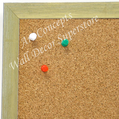 BB1686-1 | Brushed Gold with White | Custom Cork Bulletin Board | Custom White Dry Erase Board | Custom Chalk Board