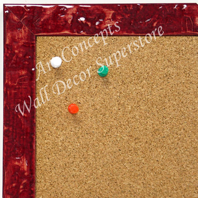 BB1691-7 | Glossy Red / Design | Custom Cork Bulletin Board | Custom White Dry Erase Board | Custom Chalk Board