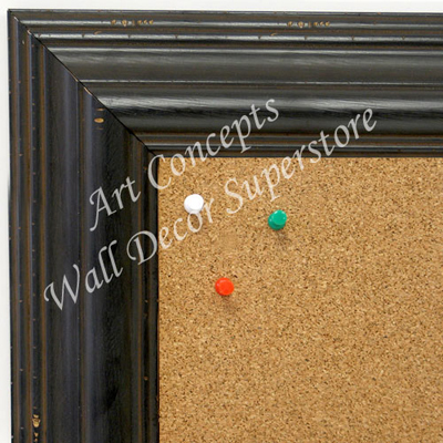 BB1705-1 | Distressed Black | Custom Cork Bulletin Board | Custom White Dry Erase Board | Custom Chalk Board