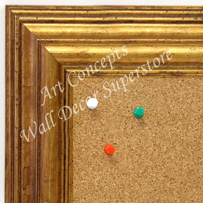 BB1705-3 | Distressed Gold | Custom Cork Bulletin Board | Custom White Dry Erase Board | Custom Chalk Board