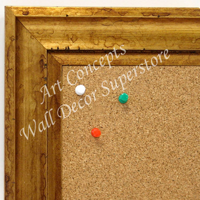 BB1706-3 | Distressed Gold Scoop Moulding | Custom Cork Bulletin Board | Custom White Dry Erase Board | Custom Chalk Board
