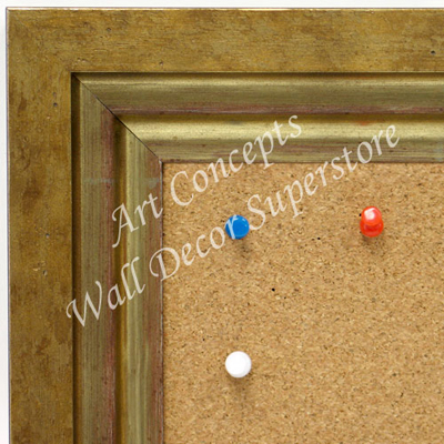 BB1721-1 | Distressed Gold | Custom Cork Bulletin Board | Custom White Dry Erase Board | Custom Chalk Board