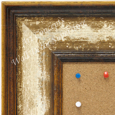 BB1742-1 | Aged Ivory Bisque Moulding | Custom Cork Bulletin Board | Custom White Dry Erase Board | Custom Chalk Board