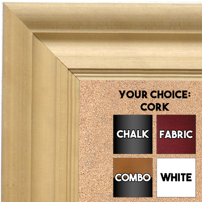 BB1750-1 | Unfinished Wood Frame | Unfinished Natural Wood Moulding - Paint or Stain | Custom Cork Board | Custom Chalk Board | Custom White Dry Erase Board