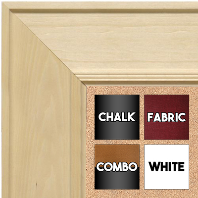 BB1751-2 Unfinished Natural Wood 4.0 Inch Frame  Paint Or Stain Medium To Extra Large Custom Cork Ch