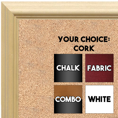 BB1752-1 | Unfinished Wood Frame | Unfinished Natural Wood Moulding - Paint or Stain | Custom Cork Board | Custom Chalk Board | Custom White Dry Erase Board