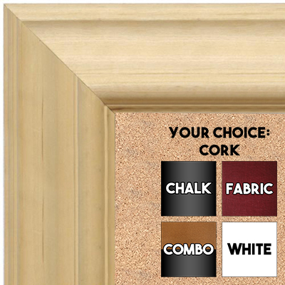 BB1757-1 | Unfinished Wood Frame | Unfinished Natural Wood Moulding - Paint or Stain | Custom Cork Board | Custom Chalk Board | Custom White Dry Erase Board