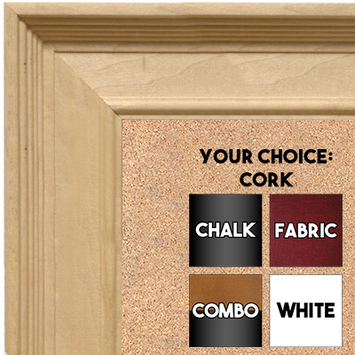 BB1761-1 | Unfinished Wood Frame | Unfinished Natural Wood Moulding - Paint or Stain | Custom Cork Board | Custom Chalk Board | Custom White Dry Erase Board