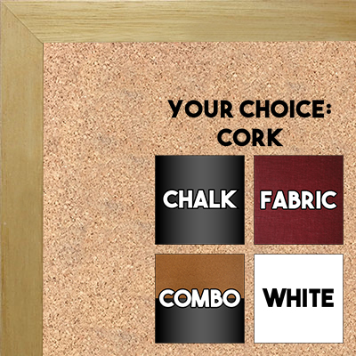 BB1543-4 Natural Clear - 3/4 Inch Wide X 3/4 Inch High - Small Custom Cork Chalk  Dry Erase