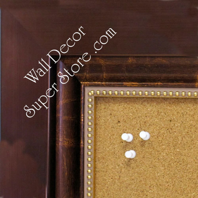 BB1849-1 | Bronze Design with Gold Beading | Custom Cork Bulletin Board | Custom White Dry Erase Board | Custom Chalk Board