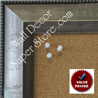 "BB1863-2 Distressed Dark Pewter  2 1/2"" Value Priced Medium To Extra Large Custom Cork Chalk Or Dry Erase Board"