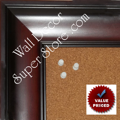 "BB1864-2 Cherry Mahogany 2 7/8"" Wide Value Priced Medium To Extra Large Custom Cork Chalk Or Dry Erase Board"