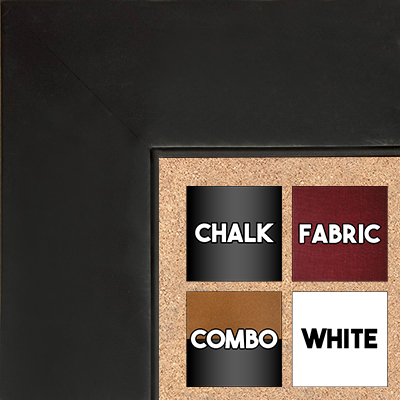 "BB1865-1 Matte Satin Black 2 3/4"" Wide Value Priced Medium To Extra Large Custom Cork Chalk Or Dry Erase Board"